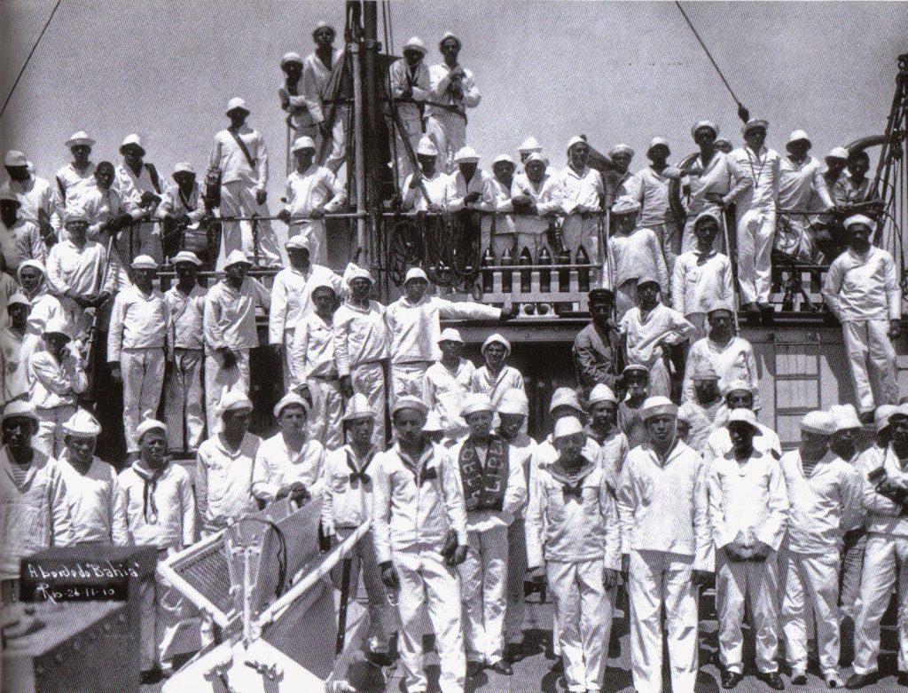 O navio Bahia, um dos amotinados